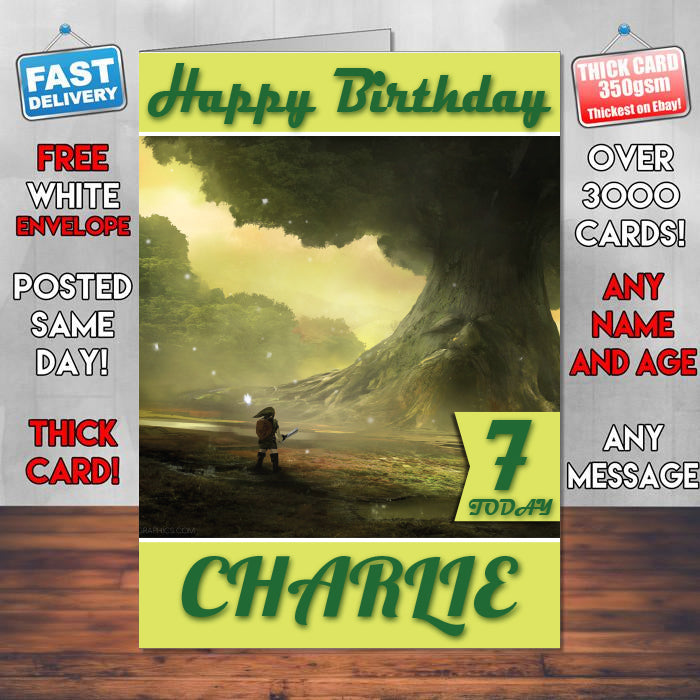 Zelda Ocarina Of Time Game Inspired Theme Personalised Kids Inspired