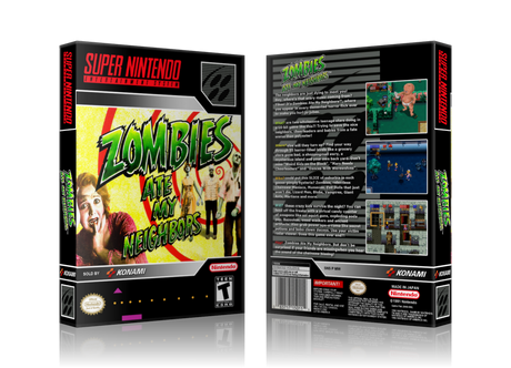 Zombies Ate My Neighbours Replacement Nintendo SNES Game Case Or Cover