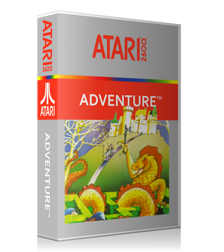 Adventure Atari 2600 Game Cover To Fit A UGC Style Replacement Game Case