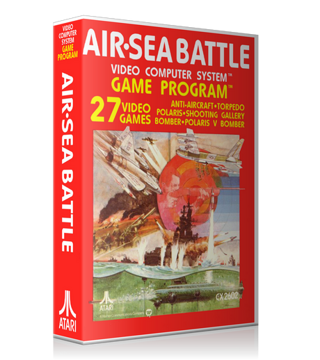 Air Sea Battle VCS Atari 2600 Game Cover To Fit A UGC Style Replacement Game Case