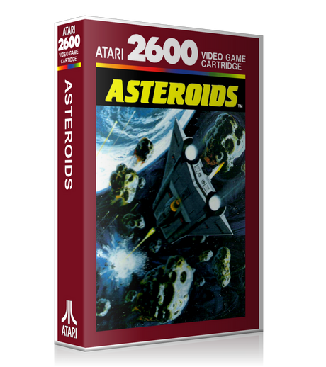 Asteroids Au Atari 2600 Game Cover To Fit A UGC Style Replacement Game Case