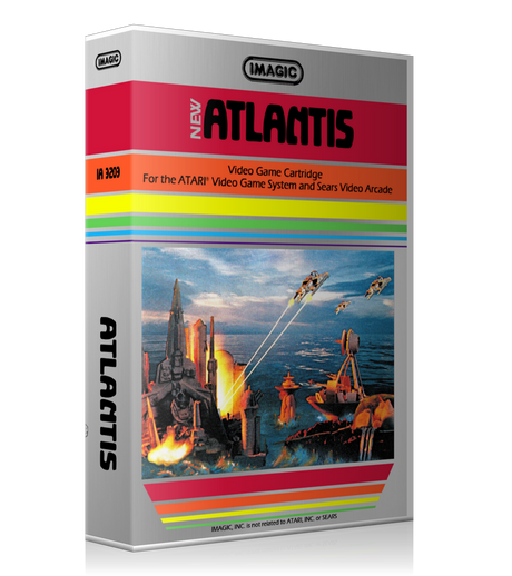 Atlantis Atari 2600 Game Cover To Fit A UGC Style Replacement Game Case