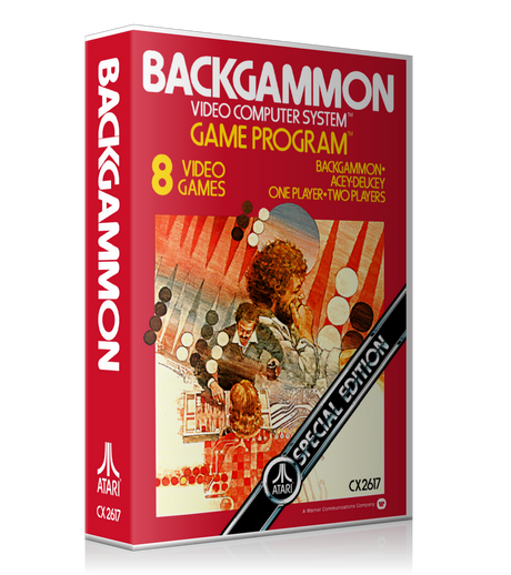 Backgammon Atari 2600 Game Cover To Fit A UGC Style Replacement Game Case