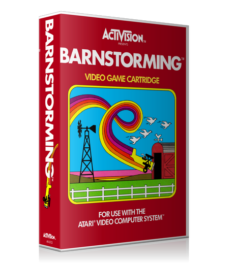 Barnstorming Atari 2600 Game Cover To Fit A UGC Style Replacement Game Case