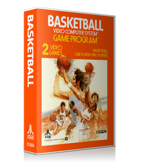 Basketball Atari 2600 Game Cover To Fit A UGC Style Replacement Game Case