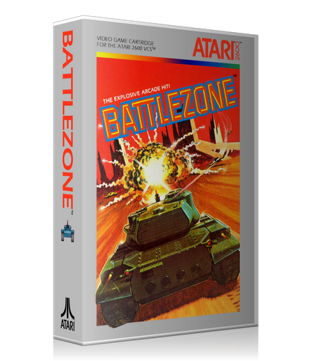 Battlezone Atari 2600 Game Cover To Fit A UGC Style Replacement Game Case