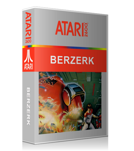 Berzerk Ca Atari 2600 Game Cover To Fit A UGC Style Replacement Game Case