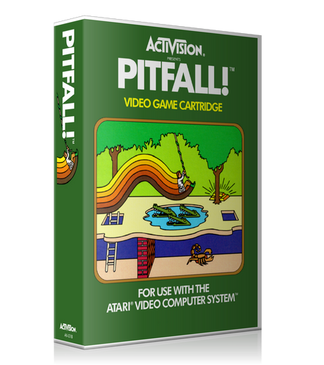 Pitfall Atari 2600 Game Cover To Fit A UGC Style Replacement Game Case
