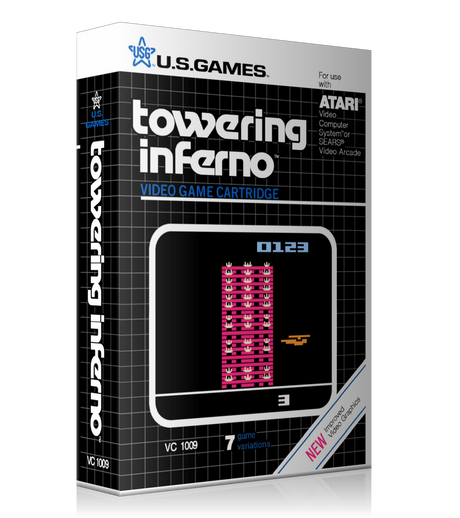 Tower Inginferno Atari 2600 Game Cover To Fit A UGC Style Replacement Game Case