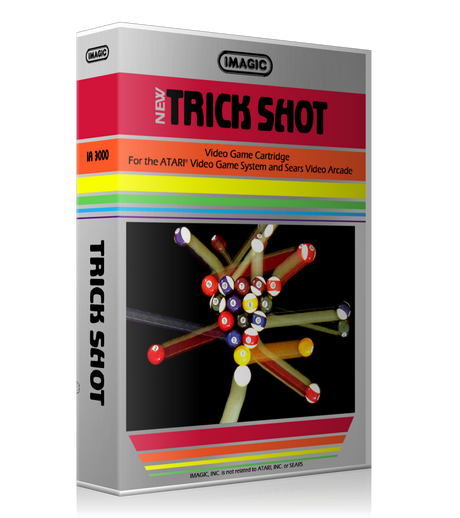 Trick Shot Atari 2600 Game Cover To Fit A UGC Style Replacement Game Case