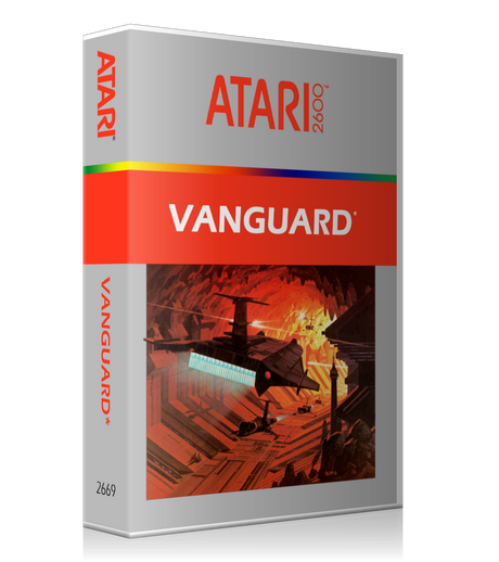 Vanguard 2 Atari 2600 Game Cover To Fit A UGC Style Replacement Game Case