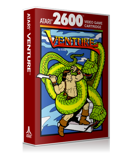Venture 2 Atari 2600 Game Cover To Fit A UGC Style Replacement Game Case