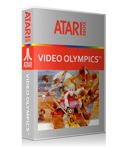 Video Olympics Atari 2600 Game Cover To Fit A UGC Style Replacement Game Case