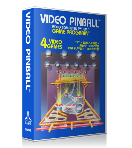 Video Pinball Atari 2600 Game Cover To Fit A UGC Style Replacement Game Case