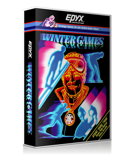 Winter Games Atari 2600 Game Cover To Fit A UGC Style Replacement Game Case