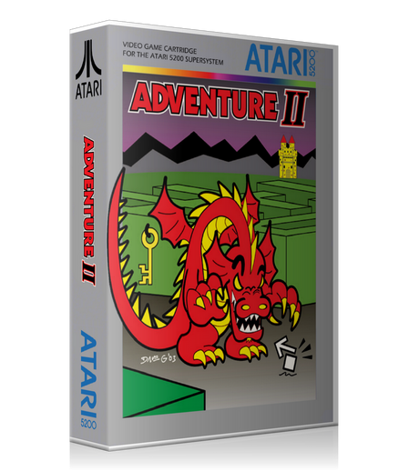 Atari 5200 Adventure II Game Cover To Fit A UGC Style Replacement Game Case