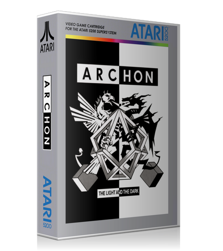 Atari 5200 Archon Game Cover To Fit A UGC Style Replacement Game Case