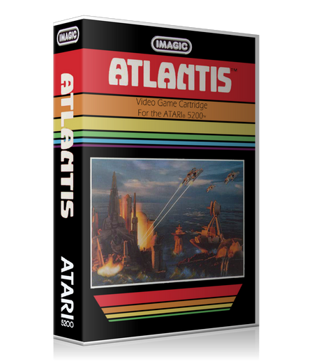 Atari 5200 Atlantis Game Cover To Fit A UGC Style Replacement Game Case