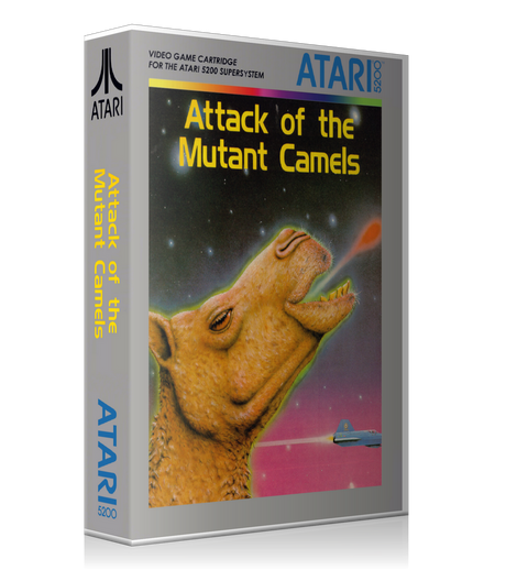 Atari 5200 Attack Of The Mutant Camels Game Cover To Fit A UGC Style Replacement Game Case