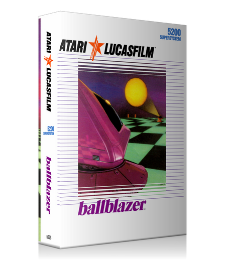 Atari 5200 Ballblazer 2 Game Cover To Fit A UGC Style Replacement Game Case