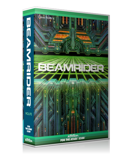 Atari 5200 Beamrider 3 Game Cover To Fit A UGC Style Replacement Game Case