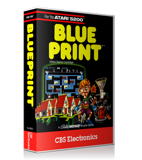Atari 5200 Blue Print 2 Game Cover To Fit A UGC Style Replacement Game Case
