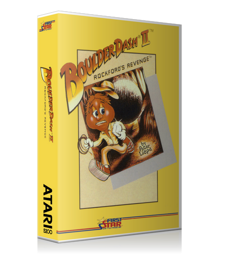 Atari 5200 Boulder Dash II Game Cover To Fit A UGC Style Replacement Game Case