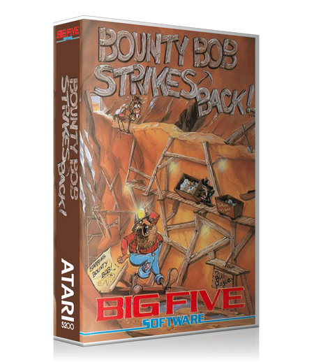 Atari 5200 Bounty Bob Strikes Back Game Cover To Fit A UGC Style Replacement Game Case