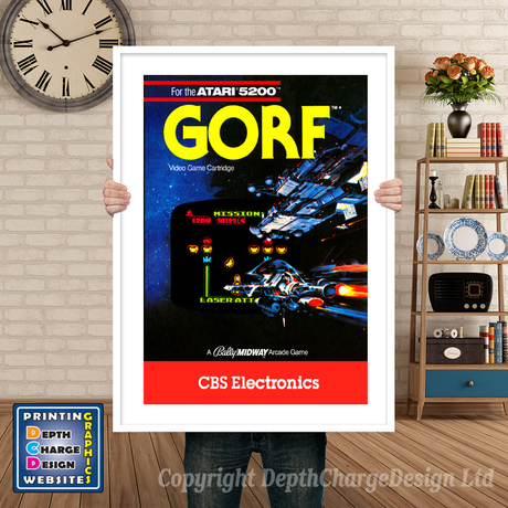 Gorf Atari 5200 GAME INSPIRED THEME Retro Gaming Poster A4 A3 A2 Or A1