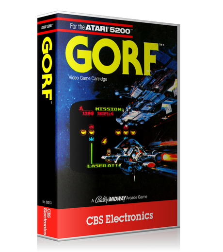 Atari 5200 Gorf 2 Game Cover To Fit A UGC Style Replacement Game Case
