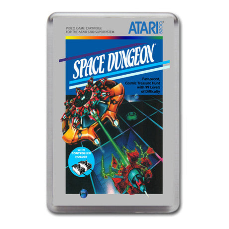 Space Dungeon 2 - Atari-5200 Game Inspired Retro Gaming Magnet