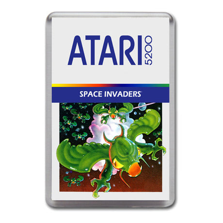 Space Invaders 2 - Atari-5200 Game Inspired Retro Gaming Magnet