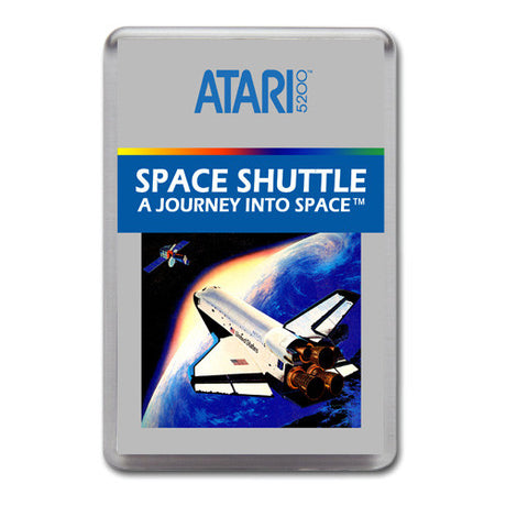 Space Shuttle 2 - Atari-5200 Game Inspired Retro Gaming Magnet