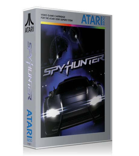 Atari 5200 Spy Hunter Game Cover To Fit A UGC Style Replacement Game Case