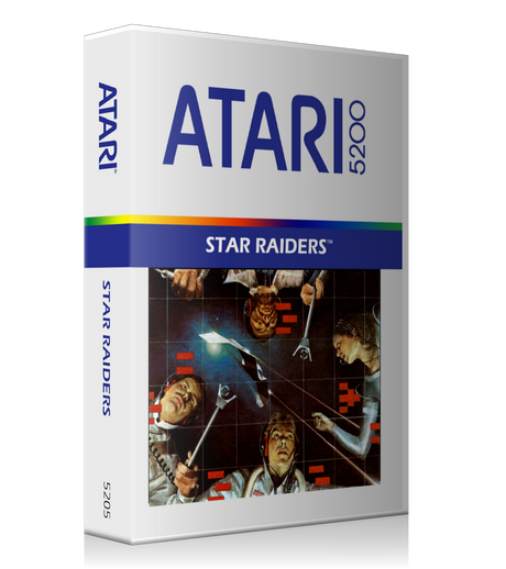 Atari 5200 Star Raiders 2 Game Cover To Fit A UGC Style Replacement Game Case