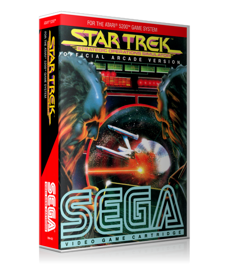 Atari 5200 Star Trek  2 Game Cover To Fit A UGC Style Replacement Game Case