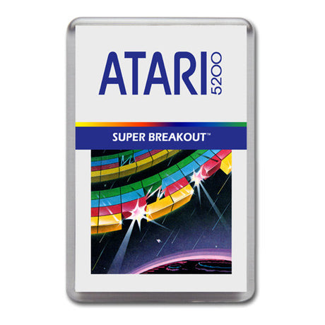 Super Breakout 2 - Atari-5200 Game Inspired Retro Gaming Magnet