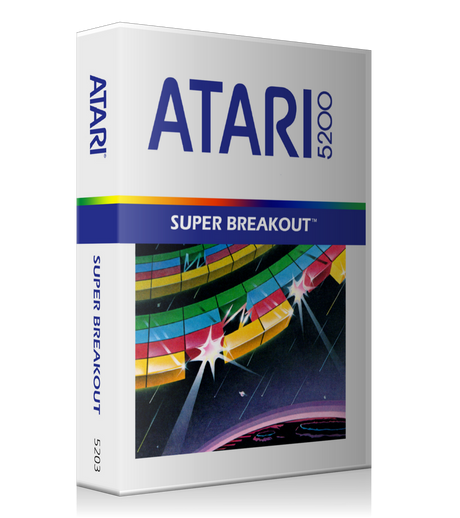 Atari 5200 Super Breakout 2 Game Cover To Fit A UGC Style Replacement Game Case