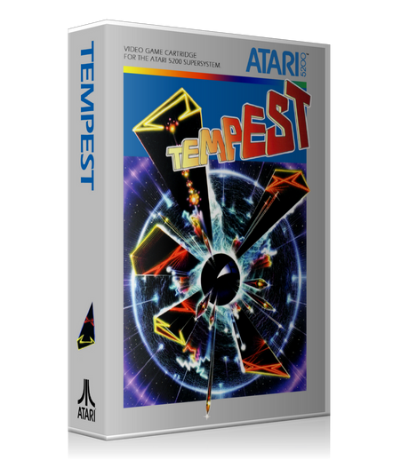 Atari 5200 Tempest 2 Game Cover To Fit A UGC Style Replacement Game Case