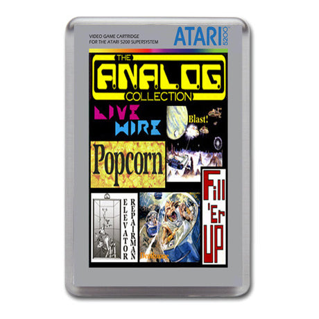 The Analog Collection - Atari-5200 Game Inspired Retro Gaming Magnet