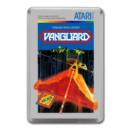 Vanguard 2 - Atari-5200 Game Inspired Retro Gaming Magnet