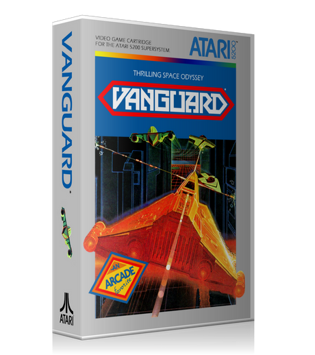 Atari 5200 Vanguard 2 Game Cover To Fit A UGC Style Replacement Game Case