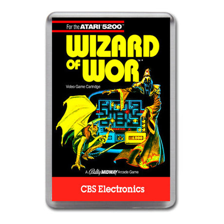 Wizard Of War 2 - Atari-5200 Game Inspired Retro Gaming Magnet