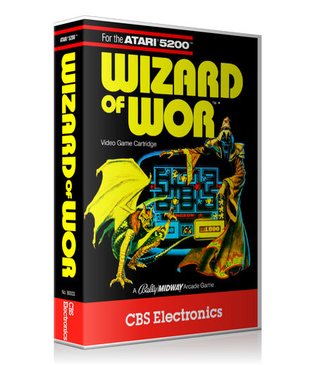 Atari 5200 Wizard Of Wor 2 Game Cover To Fit A UGC Style Replacement Game Case
