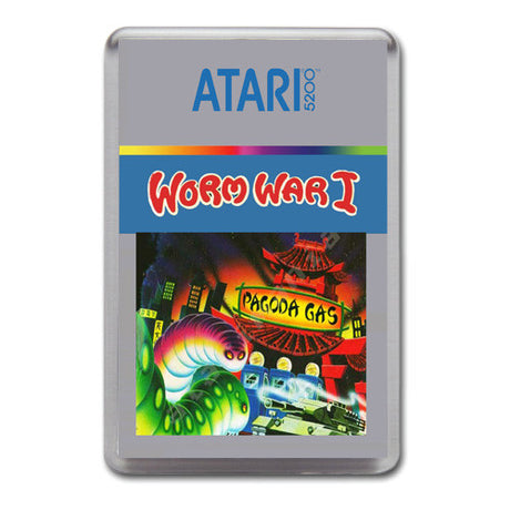 Worm Wari - Atari-5200 Game Inspired Retro Gaming Magnet