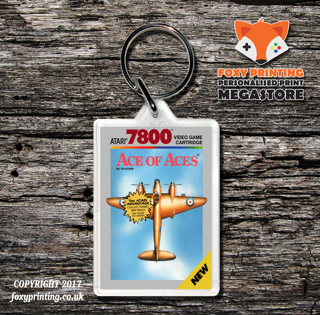 ATARI 7800 Ace Of Aces - Game Inspired Retro Gaming Keyring