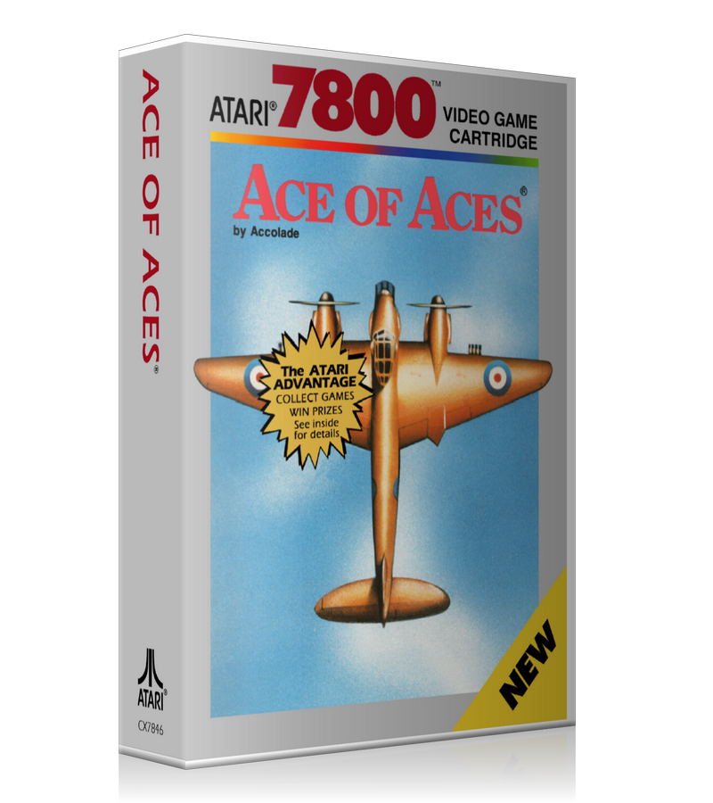 Atari 7800 Ace Of Aces Game Cover To Fit A UGC Style Replacement Game Case