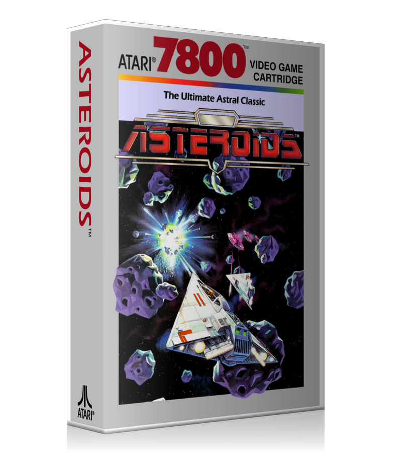 Atari 7800 Asteroids Game Cover To Fit A UGC Style Replacement Game Case