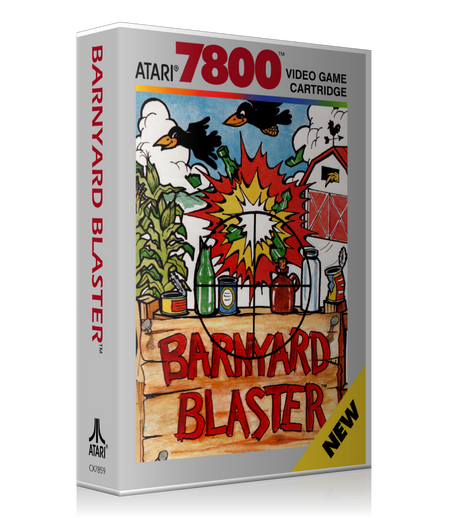 Atari 7800 Barnyard Blaster Game Cover To Fit A UGC Style Replacement Game Case