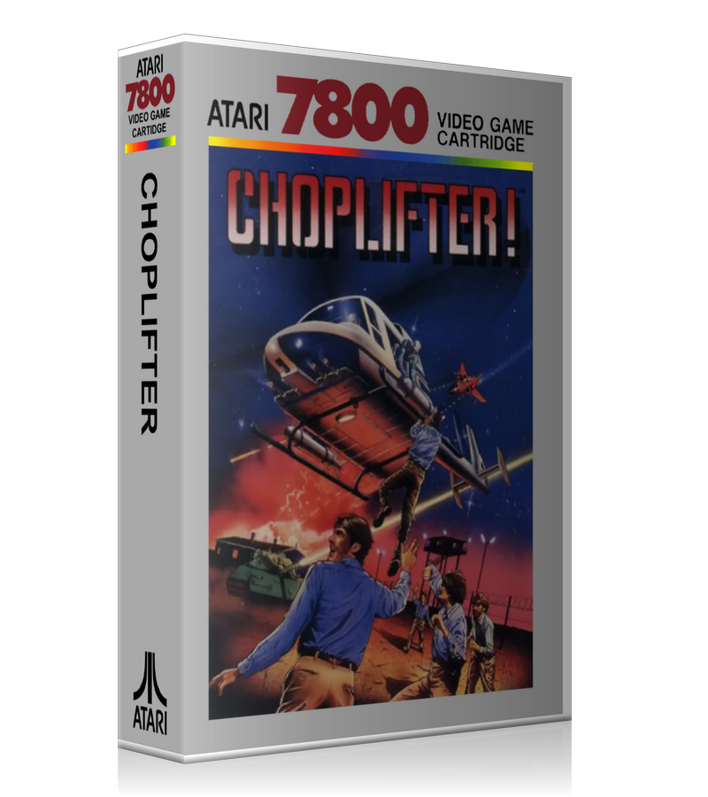 Atari 7800 Choplifter Game Cover To Fit A UGC Style Replacement Game Case